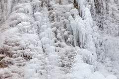 The extremely cold weather frozen icicles Stock Image