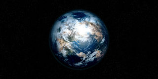 Extremely detailed and realistic high resolution 3D illustration of an Exoplanet. Shot from space Stock Image