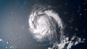 Extremely detailed and realistic high resolution 3D illustration of  a hurricane  Stock Photo
