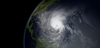 Extremely detailed and realistic high resolution 3D illustration of  a hurricane  Stock Photography