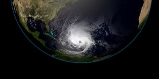 Extremely detailed and realistic high resolution 3D illustration of a hurricane   Royalty Free Stock Images