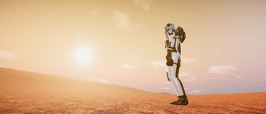Extremely detailed and realistic high resolution 3d illustration of the Martian Landscape royalty free stock images