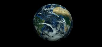 Extremely detailed and realistic high resolution 3D illustration of planet earth. Shot from space. Elements of this image have bee. Extremely detailed and Royalty Free Stock Photo