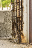 Extremely dilapidated and corrodated detail of concrete construction Havana Royalty Free Stock Photos