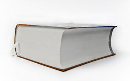 Extremely large book. On white background stock photos