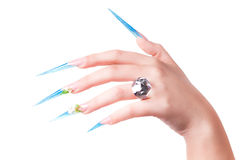 extremely long nails Royalty Free Stock Images