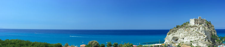 Extremely long panorama of Tropea skyline Royalty Free Stock Photo