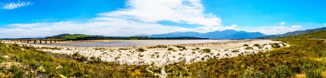 Extremely low water level in the Theewaterkloof Dam which is a major source for water supply to Cape Town stock images