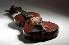 Extremely old master violin Royalty Free Stock Images