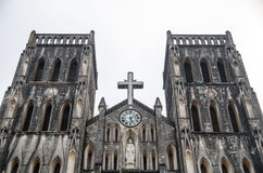 An extremely old and neo-gothic Catholic Cathedral found Stock Image