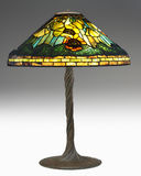 Extremely Rare Tiffany Poppy Lamp with twisted vin Stock Photo