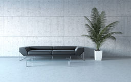 Extremely stylish minimalism interior Royalty Free Stock Photos