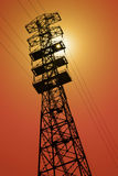 Extremely Tall Power Line Pylon Stock Images