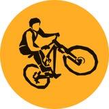 Extremer Fahrrad mtb Schmutzrennläufer Stockfotografie