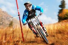 Extremer Mountainbikewettbewerb Lizenzfreies Stockfoto
