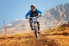 Extremer Mountainbikewettbewerb Lizenzfreie Stockfotos