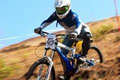 Extremer Mountainbikewettbewerb Stockbild