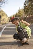 Extremer Skateboarding stockfoto