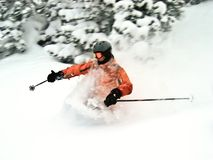 Extremer Skifahrer Stockbild