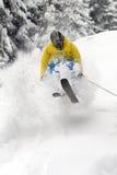 Extremer Skifahrer. Stockbild