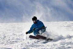 Extremer Skifahrer. Stockfotografie