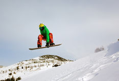 Extremer Snowboarder Lizenzfreie Stockfotografie