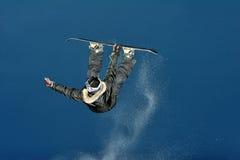 Extremer Snowboarder Stockfotografie