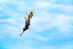 Extremer Sport Entspannender Wasser-Sport Kiteboarding, Kitesurf Lizenzfreies Stockbild