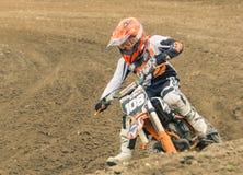 Extremer Sportmotocrosswettbewerb Stockfotos
