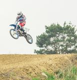 Extremer Sportmotocrosswettbewerb Stockfoto