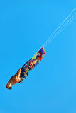 Extremer Wassersport Kiteboarding, Kitesurfing-Luft-Aktion Recre stockfotografie