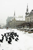 Extremer Winter in Europa Lizenzfreies Stockfoto