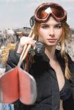 Extremes Mädchenporträt lizenzfreie stockfotografie