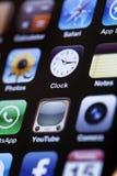 IPhone 4 - Apps Makro lizenzfreies stockfoto