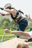 Extremes Ropejumping Lizenzfreies Stockfoto