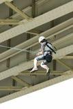 Extremes Ropejumping Stockbilder