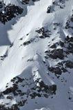 Extremes Skifahren der Frauen Stockfoto