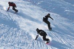 Extremes Snowboardingrennen Lizenzfreies Stockbild