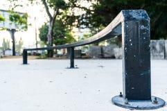 Extremes Sportfeld, usw. Skateboard, Bremsungsfahrrad Lizenzfreies Stockbild