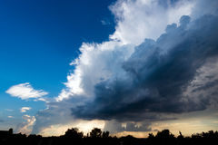 Extremes, stürmisches Wetter in Deutschland Stockfotografie