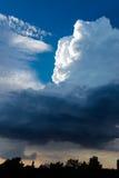 Extremes, stürmisches Wetter in Deutschland stockfotos