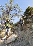 Extremes Wandern im Grand Canyon Stockfoto