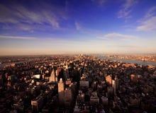 Extremes Weitwinkel von Manhattan Stockfoto