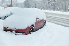 Extremes Wetter wird in allem Osteuropa verkündet Stockfotografie