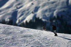 Extremes Wintersport - Skala-Unterschiede Stockfoto