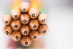 Extremidad afilada de lápices Fotografía de archivo
