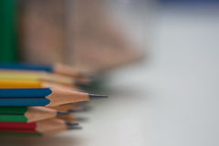 Extremidad afilada de lápices Imagen de archivo libre de regalías