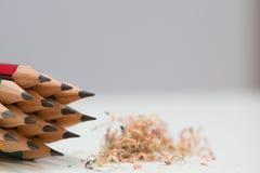Extremidad afilada de lápices Foto de archivo libre de regalías