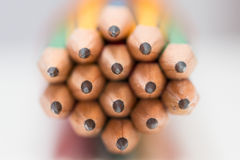 Extremidad afilada de lápices Fotografía de archivo libre de regalías