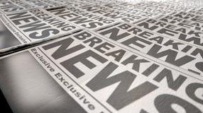 Extremidade da corrida da imprensa do jornal Imagem de Stock Royalty Free